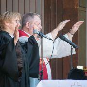 Segen Superintendentin Christine Schmid und Dechant Carsten Menges, Foto M. Hinrichs