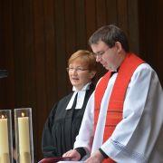 Fürbitten und Segen Superintendentin Christine Schmid, St. Johannis und Kaplan Stefan Herr, St. Marien Lüneburg