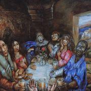 Sieger Köder, Das Mahl mit den Sündern, Titelbild des Ökumenischen Gottesdienstes, hier Bild vom Bild