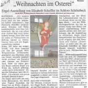 Engel in Bremen, ein Zeitungsbericht aus BLV Wochenblatt bei Bremen.