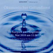 Einladungs - Plakat für den ökumenischen Gottesdienst an Pfingstmontag 2018