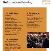 Termine WandelNacht, Reformationsgottesdienst, Allerheiligenx